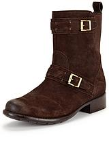 Plaza City Two Buckle Biker Boot