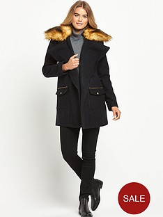 definitions-faux-fur-collar-drape-coat