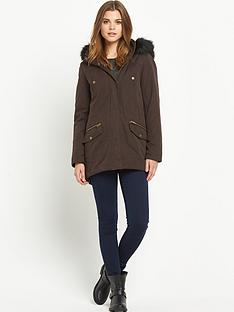 south-microfibernbspfaux-fur-parka