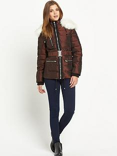south-two-tone-metallic-padded-coat