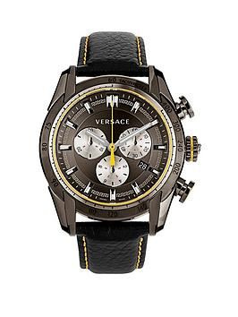 versace-v-ray-swiss-movement-chronograph-black-face-yellow-highlights-black-leather-strap-mens-watch