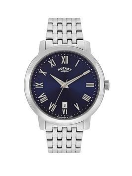 rotary-sloane-blue-dial-stainless-steel-bracelet-mens-watch