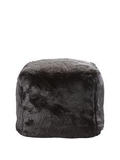 faux-fur-cube-seat-ndash-black