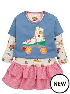 ladybird-girls-roller-skate-crop-top-and-long-sleeve-dress-set-12-months-7-years