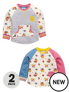 ladybird-toddler-girls-2-pack-floral-cut-amp-sew-crew-neck-sweats-1-7-years