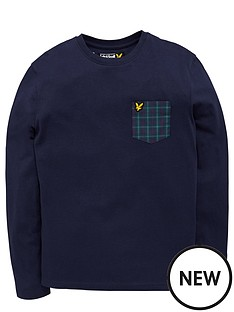 lyle-scott-lyle-amp-scott-check-pocket-top