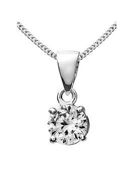 Love DIAMOND Love Diamond 9Ct White Gold 50 Point Diamond Solitaire Pendant Picture