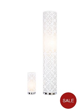 geo-laser-cut-floor-and-table-lamp-set-ivory