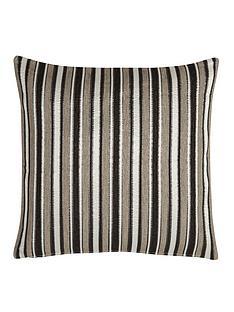 opulentnbspstriped-chenille-filled-cushion