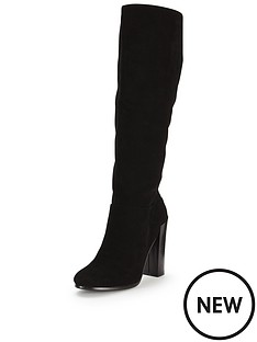 fearne-cotton-salma-suede-knee-high-block-heel-boot-black