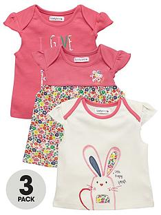 ladybird-baby-girls-bunny-and-floral-t-shirts-3-pack