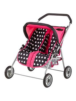 Lissi Rosa Dolls Twin Pushchair