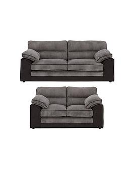 Very Delta 3 Seater + 2 Seater Fabric Sofa Set (Buy And Save!) Picture
