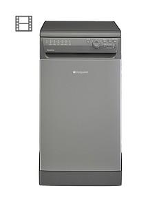 hotpoint-aquarius-sial11010g-10-place-slimline-dishwasher-graphite