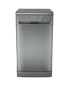 Hotpoint Aquarius Sial11010G 10Place Slimline Dishwasher  Graphite
