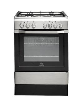 Indesit I6G52X 60Cm Single Oven Dual Fuel Cooker  Stainless Steel