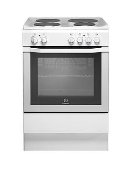 Indesit I6EVAW 60cm Single Oven Electric Cooker  White