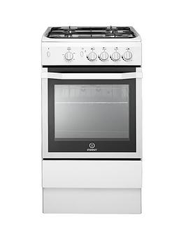 Indesit I5Ggw 50Cm Single Oven Gas Cooker  White