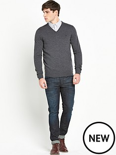 fred-perry-v-neck-jumper