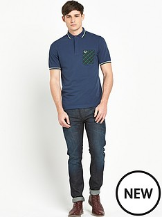 fred-perry-tartan-pocket-polo