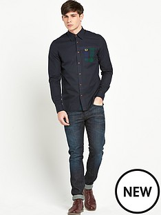 fred-perry-long-sleeve-tartan-shirt