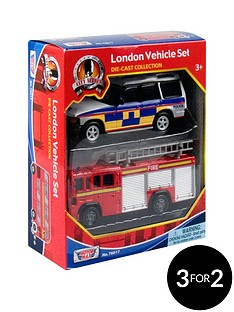 2pc-london-vehicle-set-police-and-fire-engine
