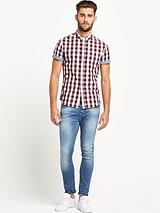 Short Sleeve Large Gingham Shirt