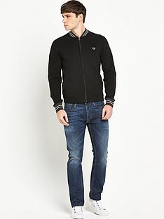 fred-perry-knitted-bomber-jacket