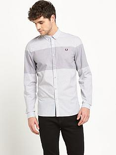 fred-perry-check-pattern-mens-shirt-ndash-grey