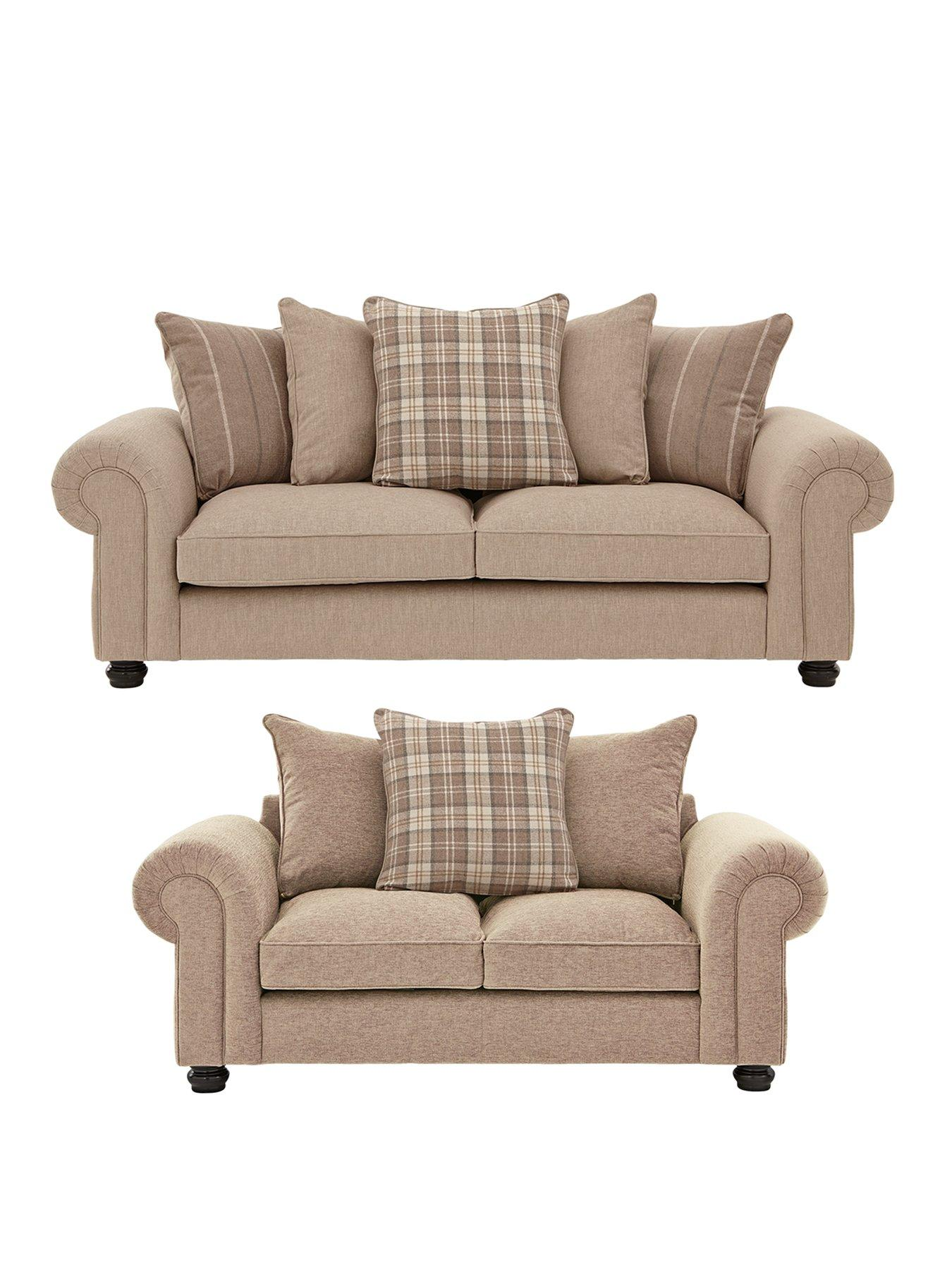 Charmant Ideal Home Orkney 3 Seater + 2 Seater Fabric Sofa Set (Buy And SAVE!)