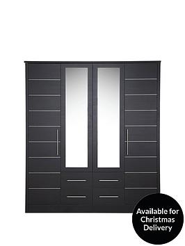 consort-liberty-4-door-4-drawer-mirrored-wardrobe