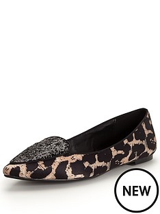 shoe-box-netty-point-glitter-front-leopard-flat-shoe