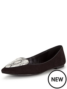 shoe-box-netty-point-monochrome-snake-flat-shoe