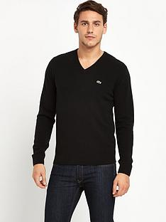 lacoste-v-neck-jumper