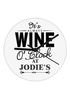 personalised-wine-o-clock-glass-clock