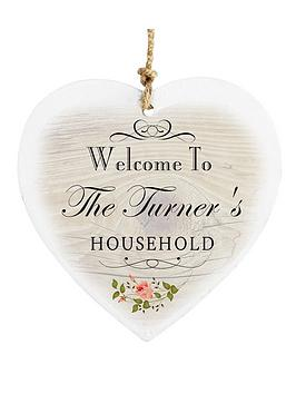 personalised-family-vintage-wooden-heart