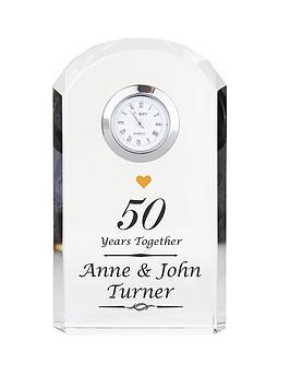 personalised-anniversary-crystal-clock