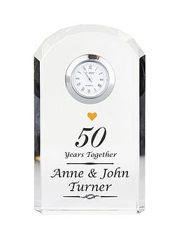 Very Personalised Anniversary Crystal Clock Picture