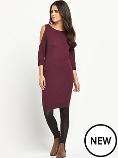 south-open-shoulder-knitted-dress