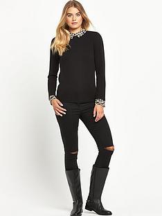 south-printed-shirt-collar-jumper