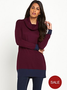 south-colour-block-cowl-neck-jumper