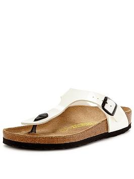 birkenstock-gizeh-white-patent-toe-post-sandals
