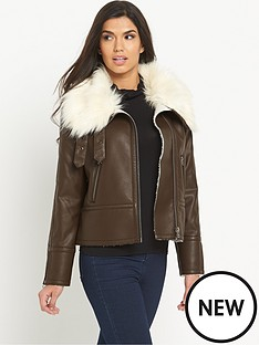 south-oversized-faux-fur-pu-bikernbsp