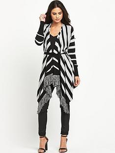 south-fringe-stripe-drapey-cardigan