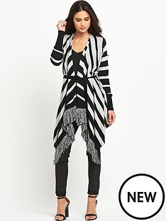 south-fringe-stripe-drapey-cardigan