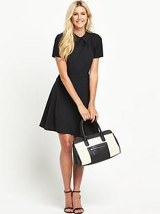 south-lace-yoke-collared-skater-dress