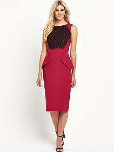 south-lace-peplum-dress