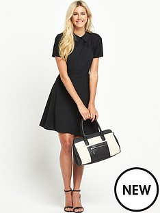 south-south-petite-lace-yoke-collared-skater-dress