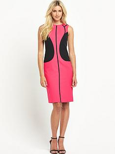 south-petite-colour-block-panelled-dress