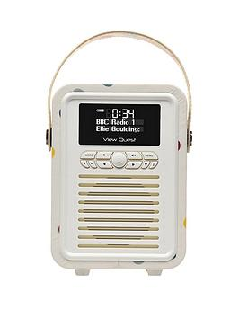 View Quest Emma Bridgewater Retro Mini Bluetooth&Reg Dab Radio  Polka Dot